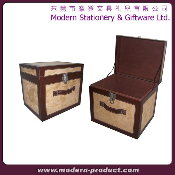 Solid MDF Vintage Storage Boxes With Lid